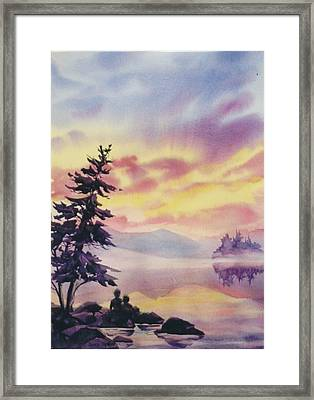 Summer-vacation Framed Print by Nancy Newman