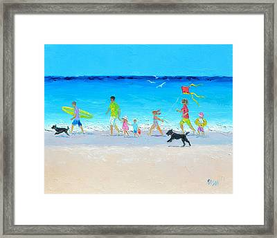 Summer Vacation Time Framed Print by Jan Matson