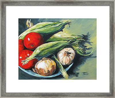 Summer Vegetables  Framed Print by Torrie Smiley