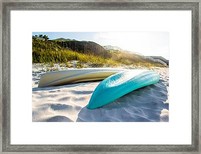Summer Vibes On The Beach Framed Print by Shelby Young
