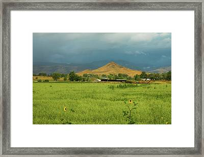 Framed Print featuring the photograph Summer View Of  Hay Stack Mountain by James BO Insogna