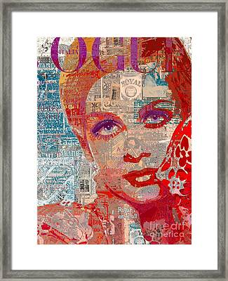 Summer Vogue Chic Framed Print by Sara Sutton