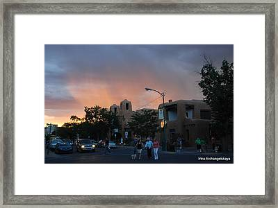 Summer Walk In Santa Fe  Framed Print
