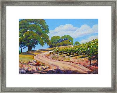 Summer Walk Framed Print by Margaret  Plumb