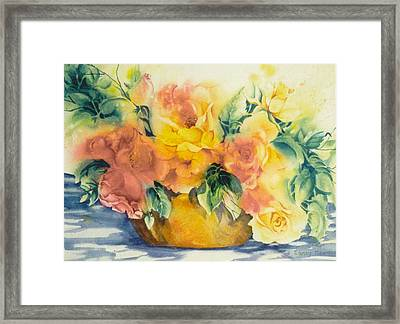 Summer-warmth Framed Print by Nancy Newman