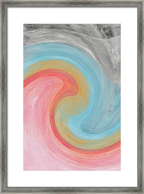 Summer Waves- Abstract Art By Linda Woods Framed Print