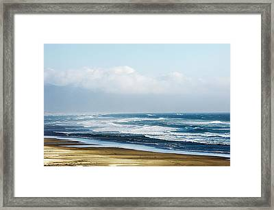 Summer Waves Netarts Oregon Framed Print