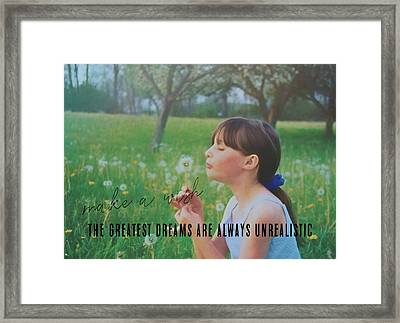 Summer Wish Quote Framed Print by JAMART Photography