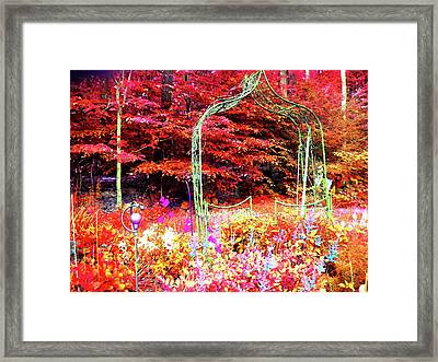Framed Print featuring the photograph Summerhouse Arch by Susan Carella
