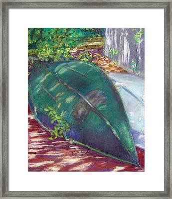 Summerime Overturned Framed Print by Katherine  Berlin