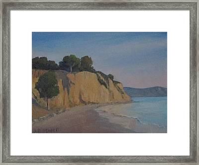 Summerland Beach Study Framed Print by Jennifer Boswell
