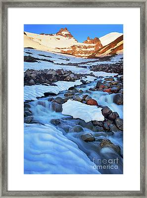 Summerland Creek Framed Print by Inge Johnsson