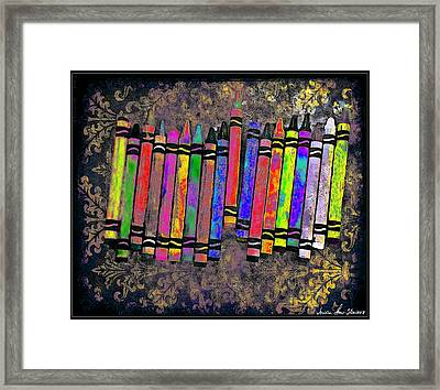 Summer's Crayon Love Framed Print