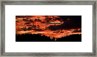 Summer's Crimson Fire Framed Print