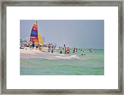 Summers Day On Pensacola Beach Framed Print by Ray Devlin