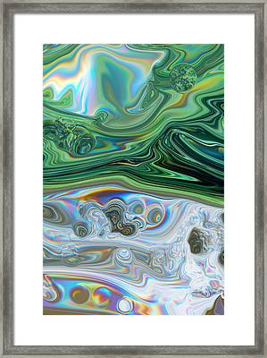 Summers Day Reflection Abstract Framed Print by Michelle  BarlondSmith