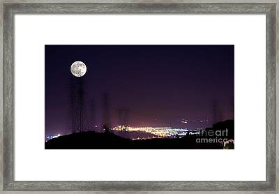 Summer's Night In The Valley Framed Print