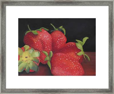 Summer's Red Gems Framed Print