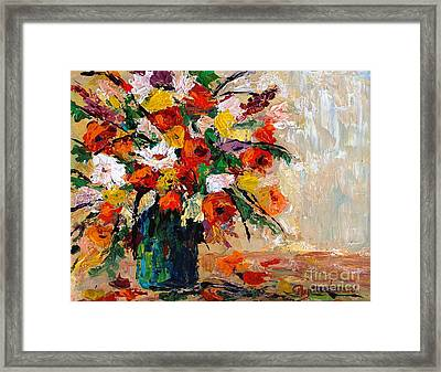 Framed Print featuring the painting Summer's Riot by Phyllis Howard