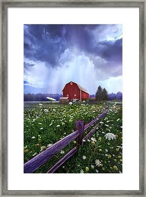 Summer's Shower Framed Print by Phil Koch