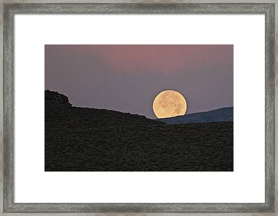 Summers Super Moon Framed Print