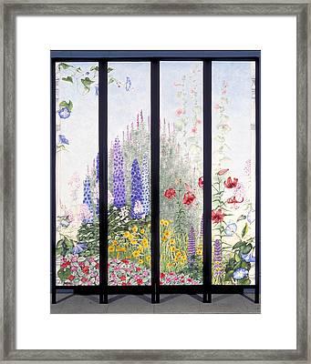 Summerscreen Framed Print by Nancy  Ethiel