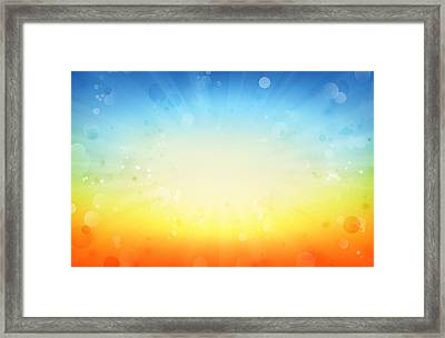 Summershine Framed Print by Les Cunliffe
