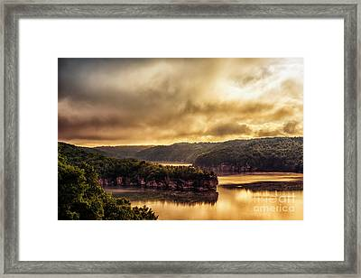 Summersville Lake At Daybreak Framed Print