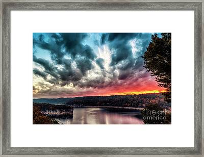 Summersville Lake Autumn Dawn Framed Print by Thomas R Fletcher