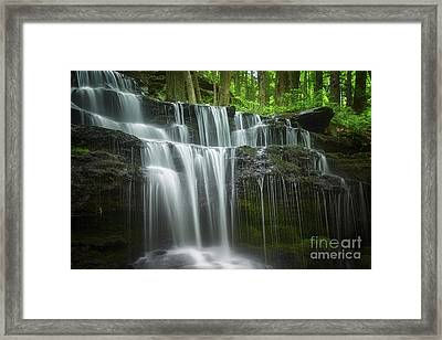 Summertime At Gunn Brook Falls Framed Print