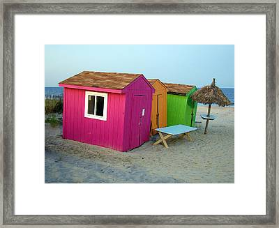 Summertime At The Jersey Shore Framed Print by Heather S Huston
