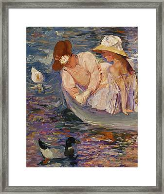 Framed Print featuring the painting Summertime By Mary Cassatt 1894 by Movie Poster Prints