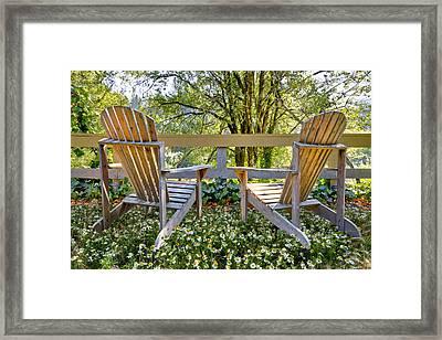 Summertime Framed Print by Debra and Dave Vanderlaan