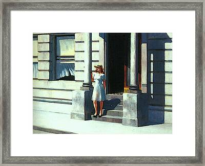 Summertime  Framed Print by Edward Hopper