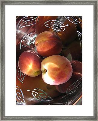 Framed Print featuring the photograph Summertime Fruit by Lindie Racz