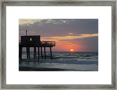 Summertime In Avalon New Jersey Framed Print by Bill Cannon