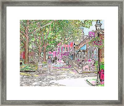 Summertime In Newburyport, Massachusetts Framed Print