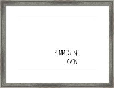 Summertime Lovin Framed Print by Chastity Hoff