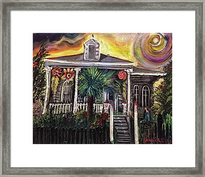 Framed Print featuring the painting Summertime New Orleans by Amzie Adams