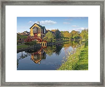 Summertime On The River - Sawbridgeworth Framed Print