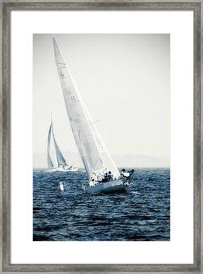 Summertime Race 2 Framed Print by Alan Hausenflock