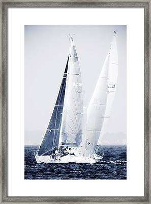 Summertime Race 5 Framed Print by Alan Hausenflock