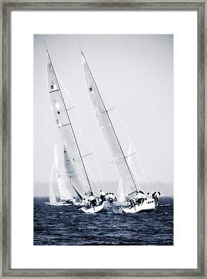 Summertime Race 6 Framed Print by Alan Hausenflock