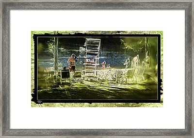 Summertime Water Polo Framed Print
