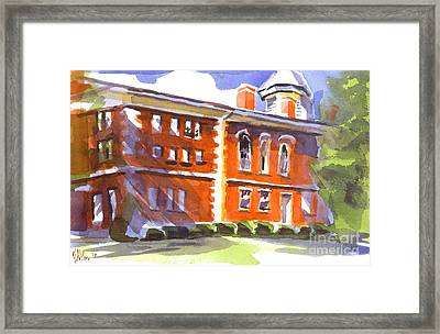 Summery Afternoon Sunshine At The Courthouse Framed Print by Kip DeVore