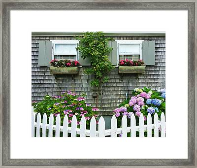 Summery Nantucket Framed Print by Michelle Wiarda
