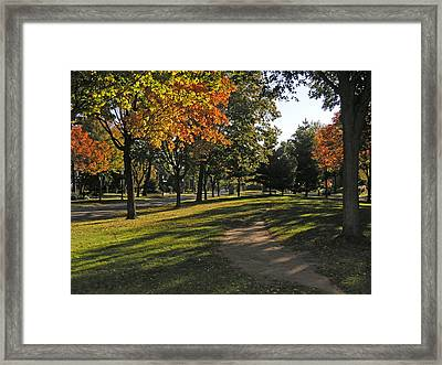 Summit Avenue In The Fall Framed Print by Janis Beauchamp