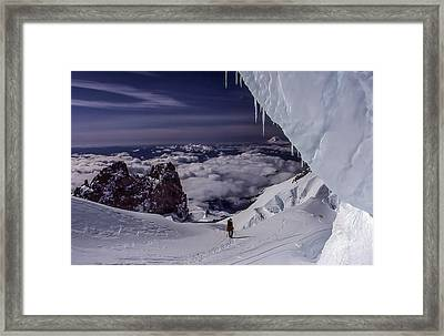 Summit Bound Framed Print