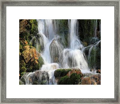 Summit Creek Waterfalls Framed Print