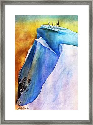 Summit Framed Print by Hailey E Herrera